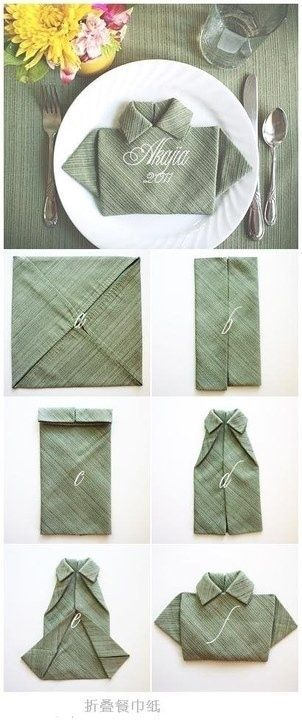 Napking folding- Shirt
