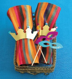 Purim crown, napkin rings