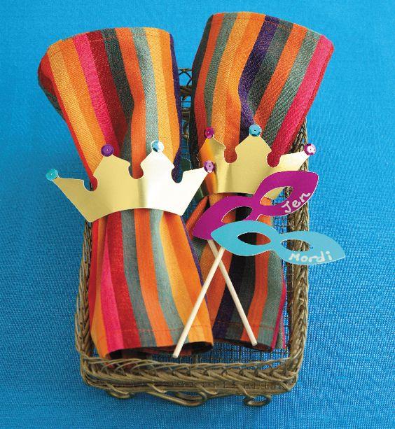 Purim crown, napkin rings