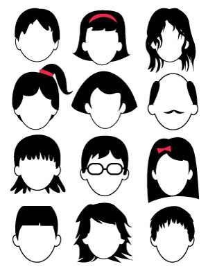 Blank Faces Drawing Page – Free Printable