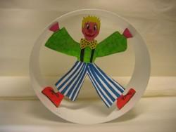 Purim Clown roll around