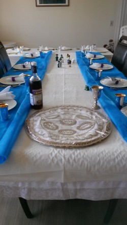 Pessach table decoration (Yetziat Mitzraim)
