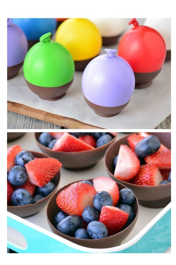 Chocolate dessert bowls