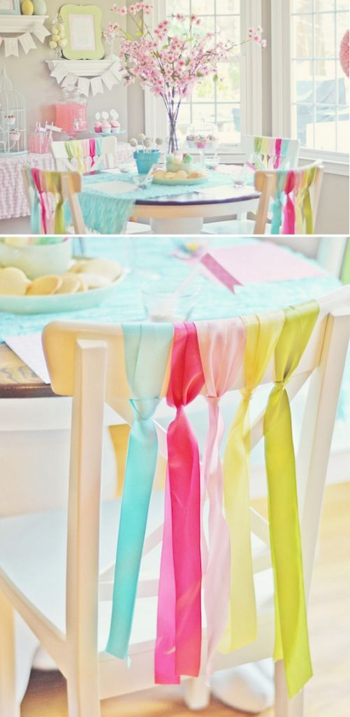 Chair deco for party