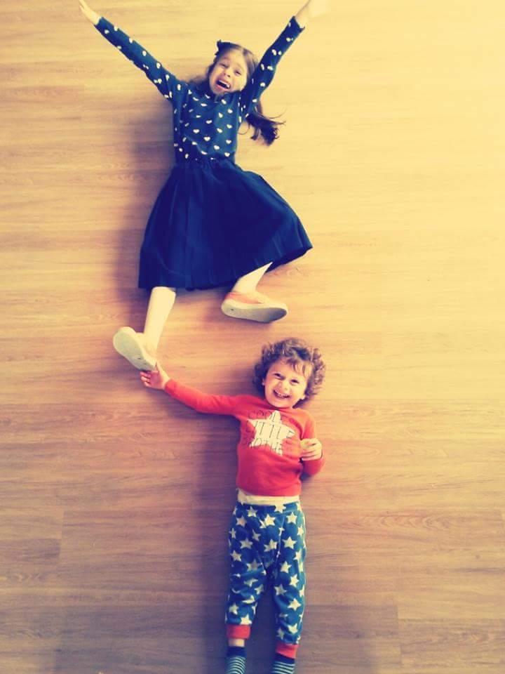 Fun photo with kids