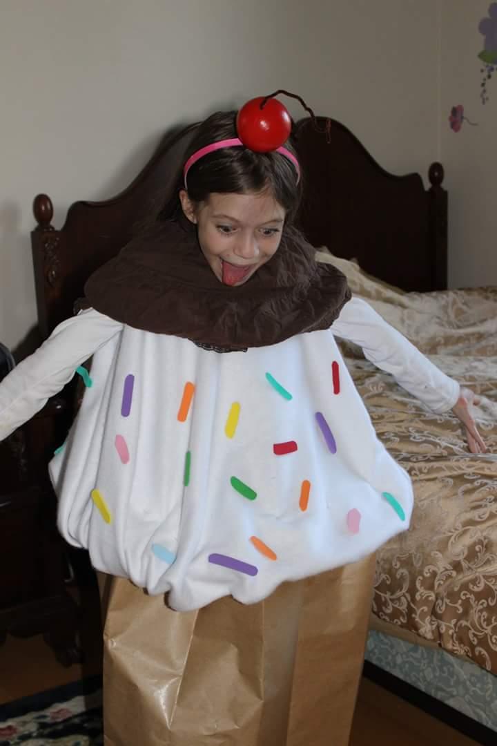 Cupcake Purim costume