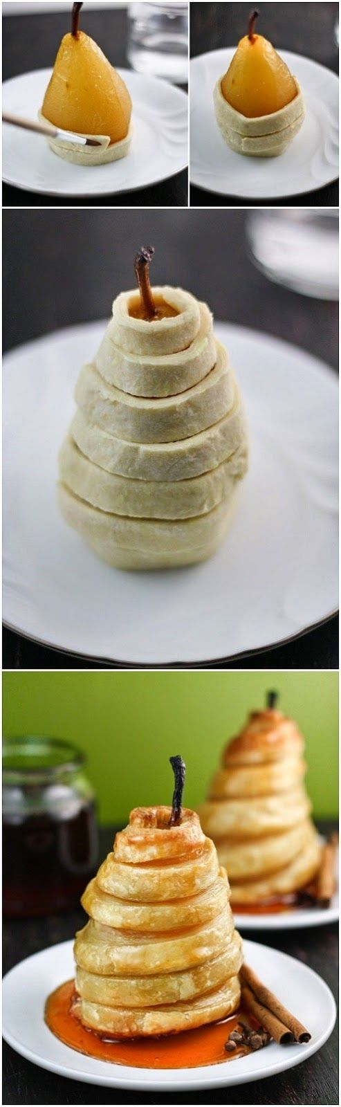 Pear and pastry dessert