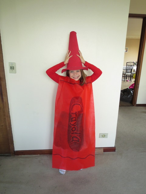 Purim Crayon costume
