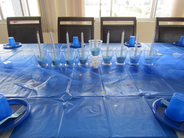 Chanukah table decoration