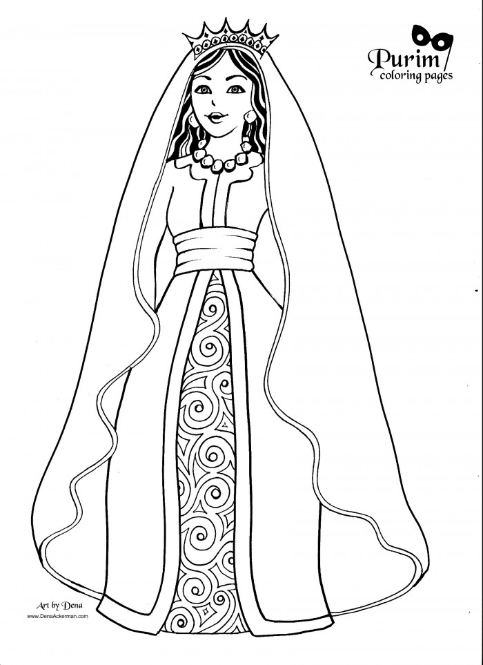 Purim Coloring Pages! http://www.denaackerman.com/2013/02 ...