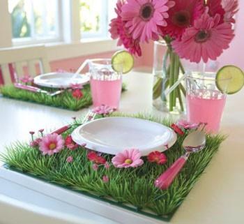 Party table garden deco