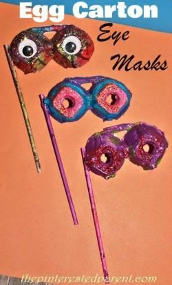 Egg carton eye masks