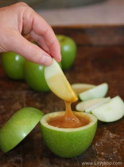 Apple honey dish