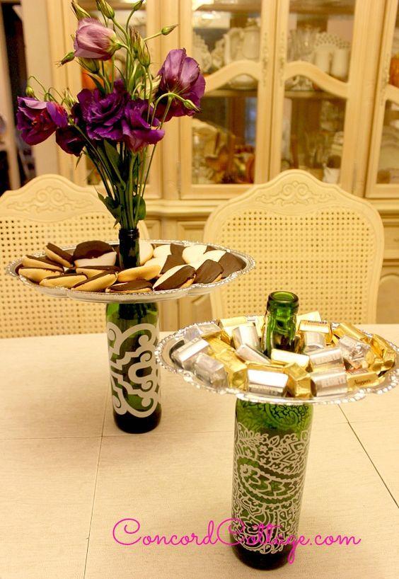 Wine bottle trays