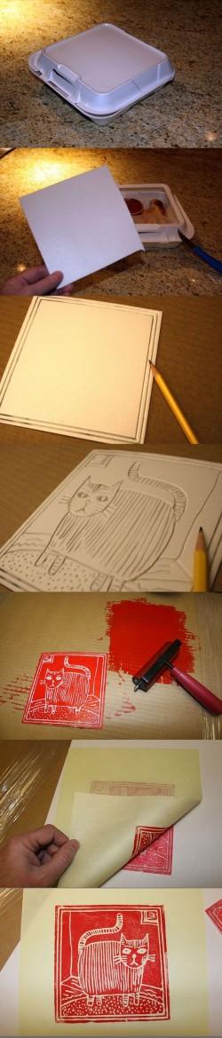 Styrofoam stamping