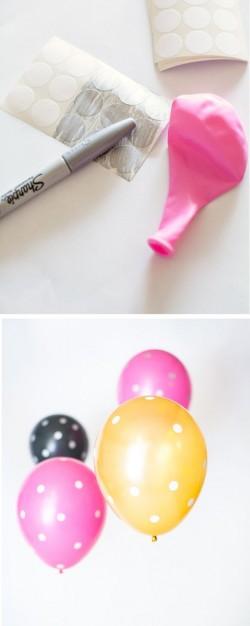 Make your own polka dot baloon