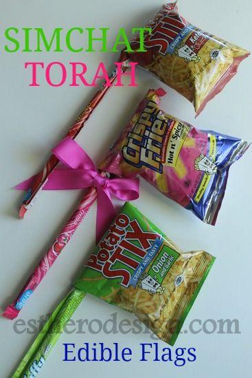 Edible Simchat Tora Flags or Gragger