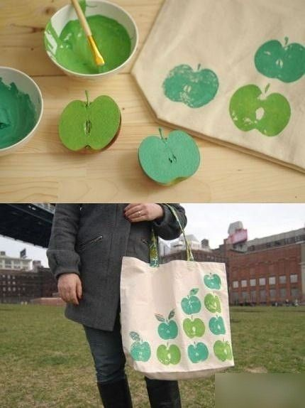 Rosh Hashana apple print bag