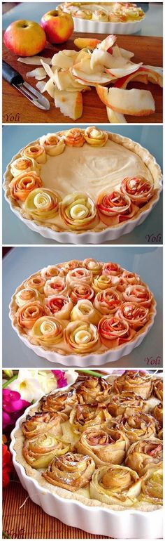 Apple roses pie, Rosh hashana dish
