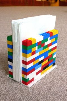 Lego napkin holder