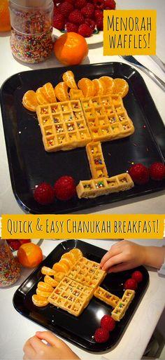 Waffle Menorah