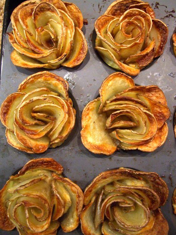 Potato roses for pessach