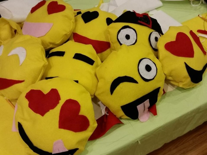 Emoji Pillows for Chodesh Adar