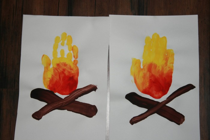Bonfire hand print