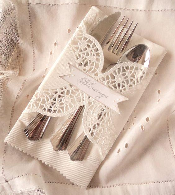 Fancy napkin look