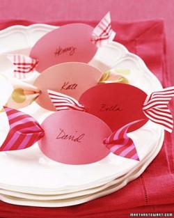 Candy name cards