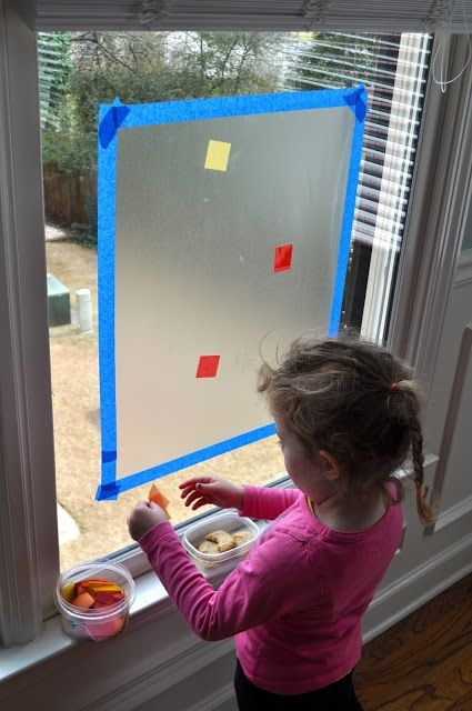 Stained glass with contact paper