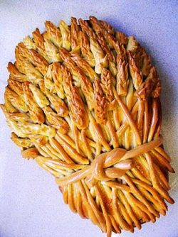 "Make long ""snakes"" of dough, and snip feathery patterns into the end with kitchen sh ..."