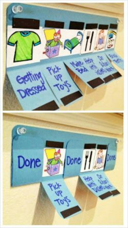 Magnetic chores chart