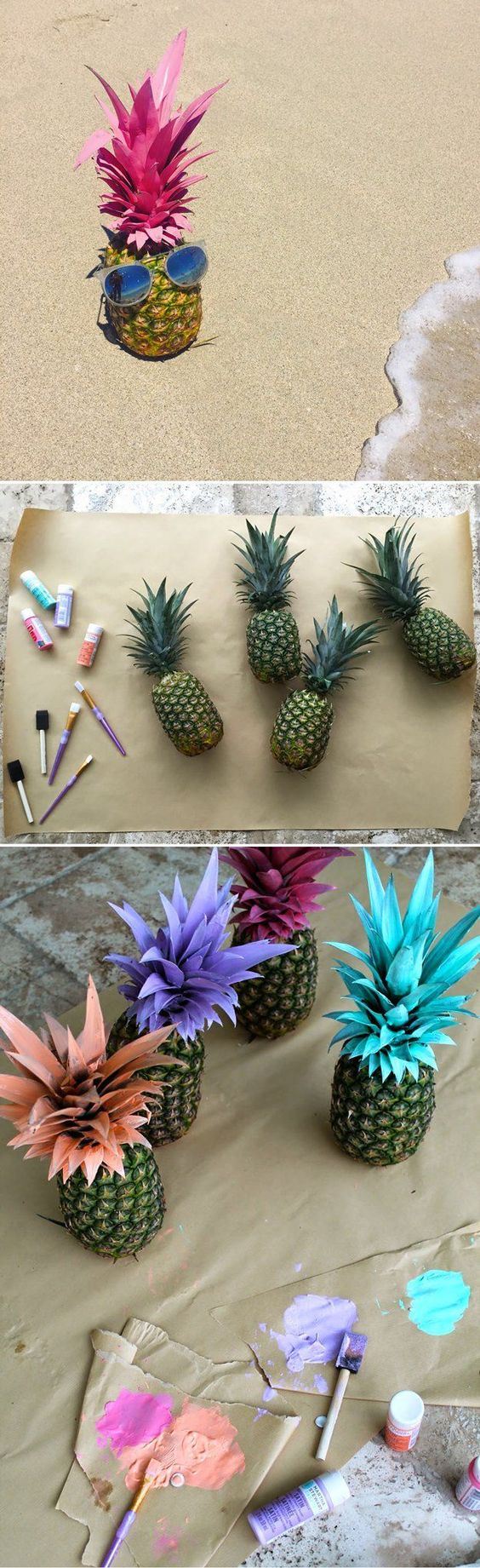 Tu biShevat deco with pineapples