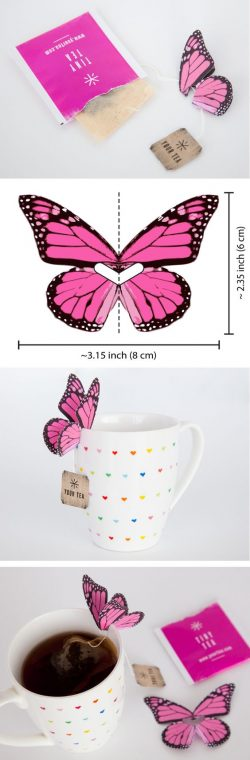 Butterfly on the cup..