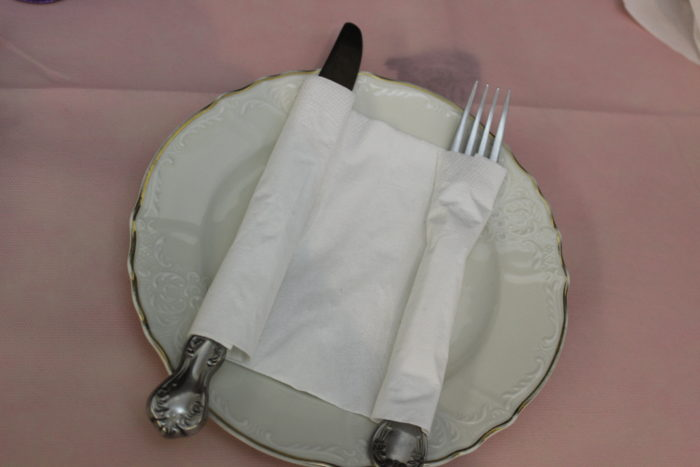 Torah-Napkin fold