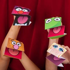 Easy paper puppets