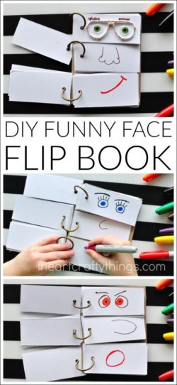 Fun flip face book
