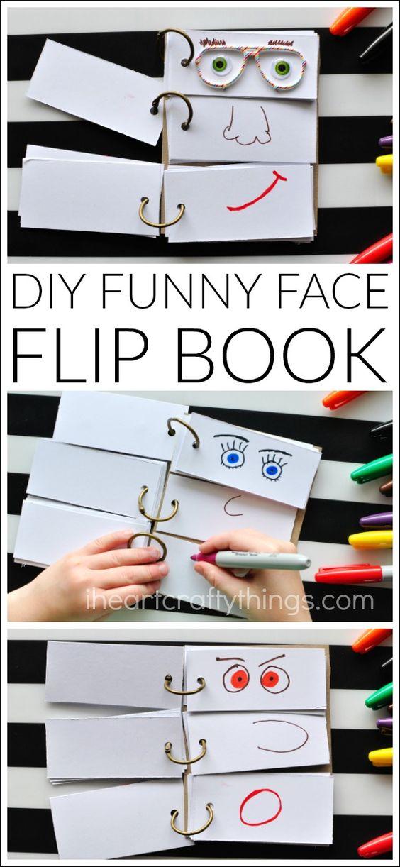 Fun flip face book