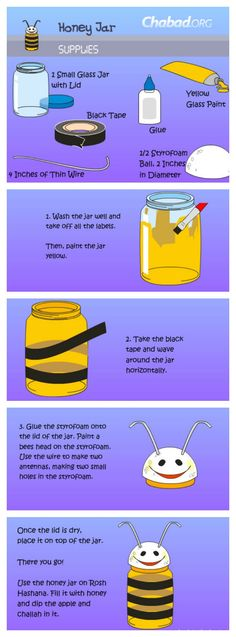 Bee honey jar