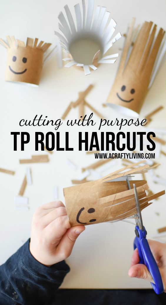 TP roll haircuts for upshernish