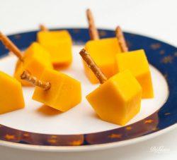 Cheese dreidels