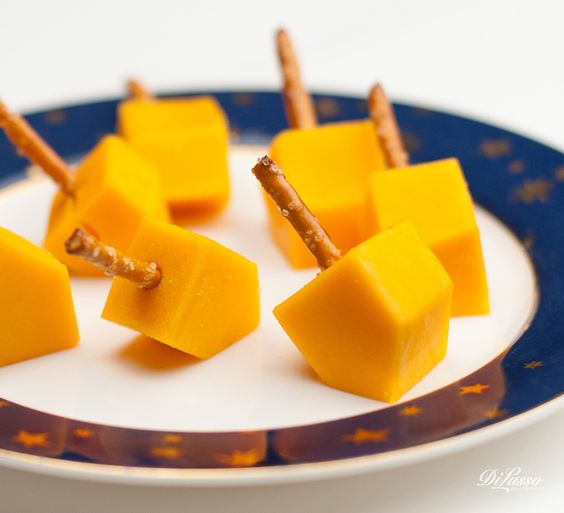 Cheese dreidels