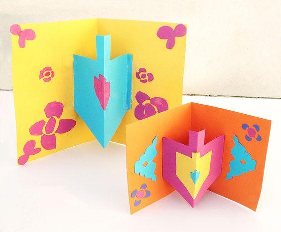 pop up dreidel cards