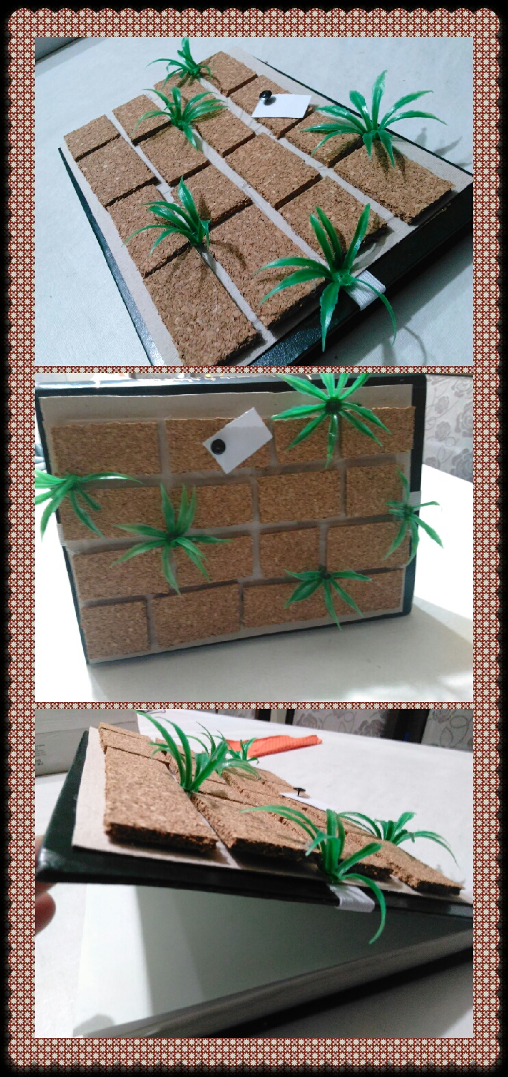 Kotel craft (book-sidur cover/frame) Hang notes with push pins and attach elastic so it can hold ...
