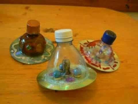 bottle tops- fill in dreidel