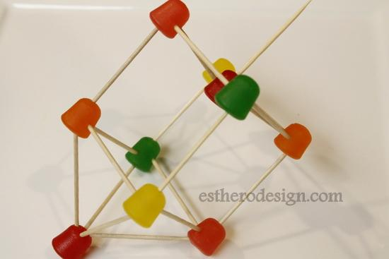 3D dreidel, DIY sticks and candy dreidel