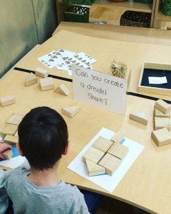 create dreidel shapes with block