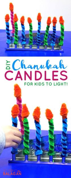 kids candles. pipe cleaners