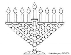 menorah round sticker project